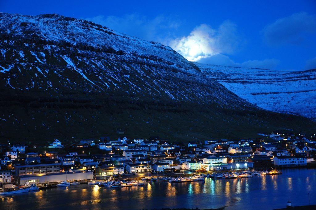 Isole Faroe notte
